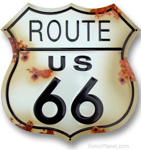 Route 66 Rustic sign