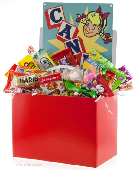 Retro Candy Gift Box with Tin Sign