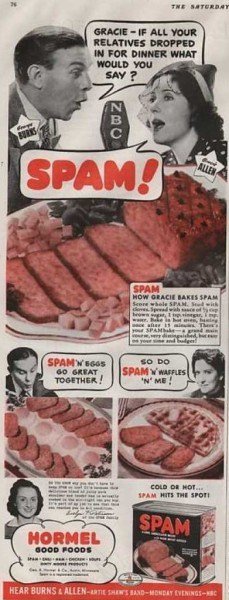 1940 SPAM ad