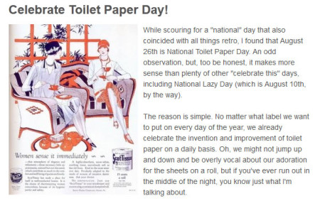 Read The Retro History Of Toilet Paper