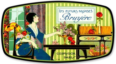 Vintage-Style Bruyere Heather Perfume Tin Sign
