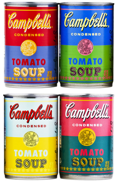 Campbell's Soup Cans with Warhol Art
