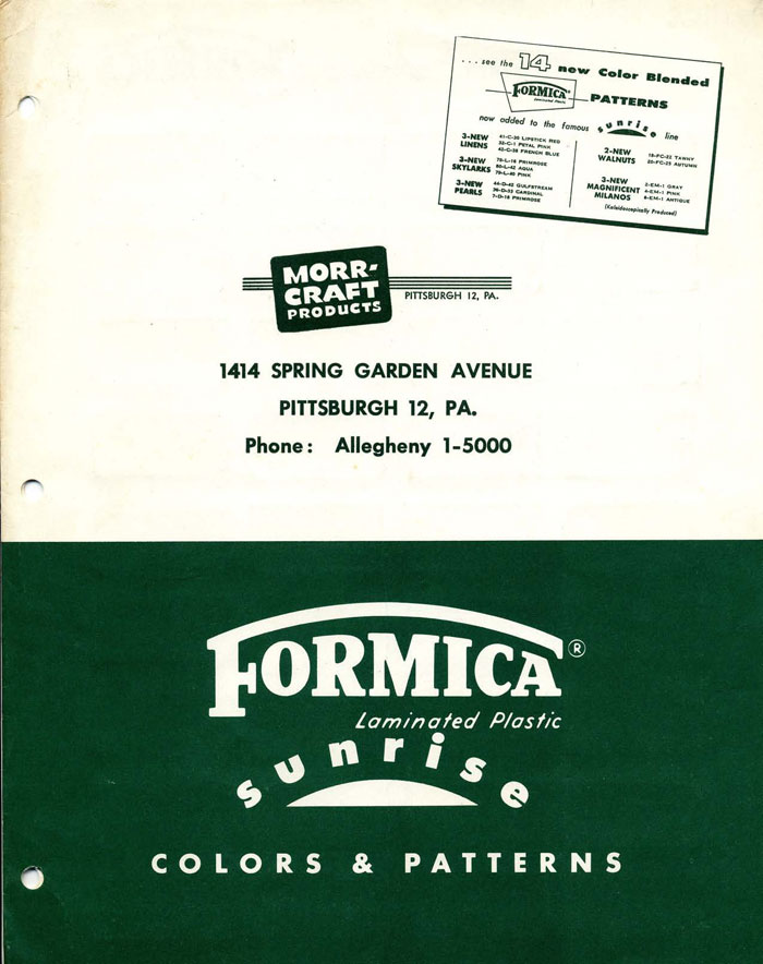 Formica Sunrise Catalog Cover