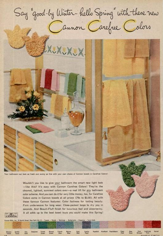 Cannon Towels Ad 1955