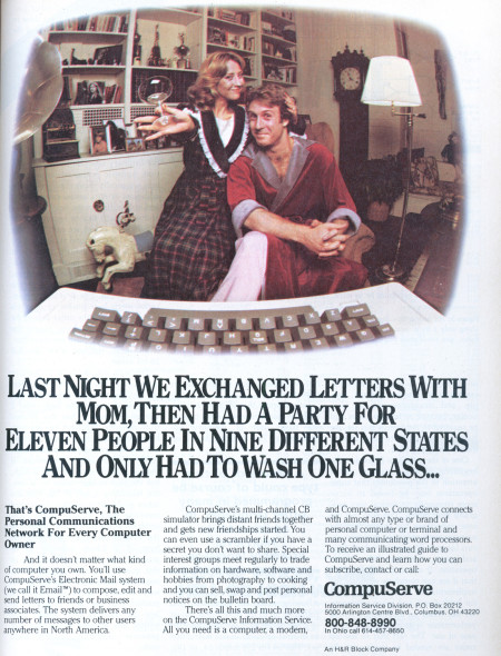 1983 Ad for CompuServe CIS