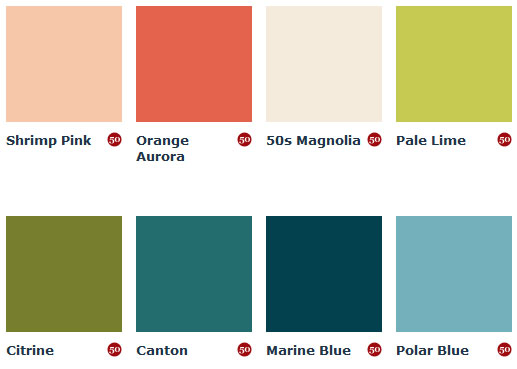1950s Paint Colours (England)