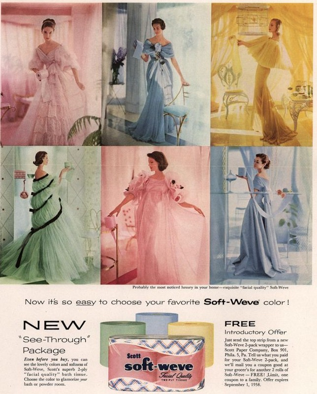 Scott's Soft-Weve tissue 1958 ad
