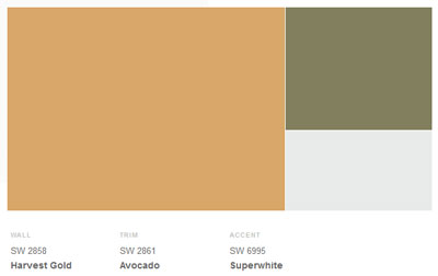 Sherwin-Williams 1950s Exterior Palette