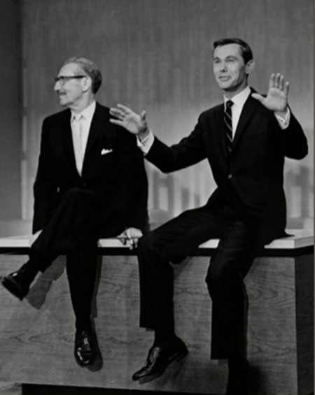 Groucho Marx and Johnny Carson