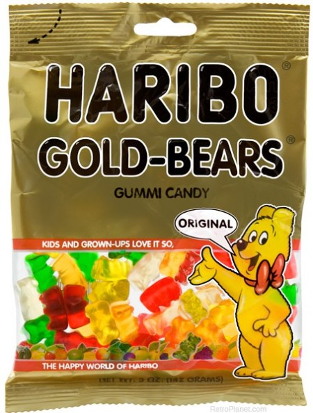 Product Packaging of Haribo Gold-Bears Gummi Candy