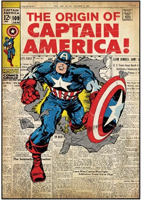 Captain America Comic Book Cover Wall Decal