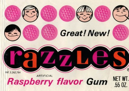 Razzles packaging - late 1960s