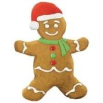 Gingerbread Man Santa Hat Magnet