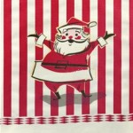 Retro Santa Dish Towel