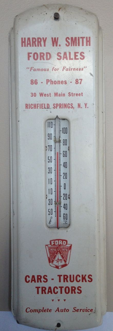 Ford Sales Promo Thermometer