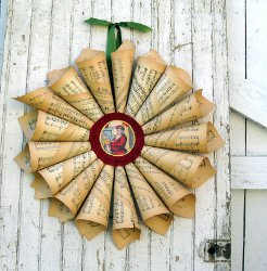 Paper Wreath Project Image