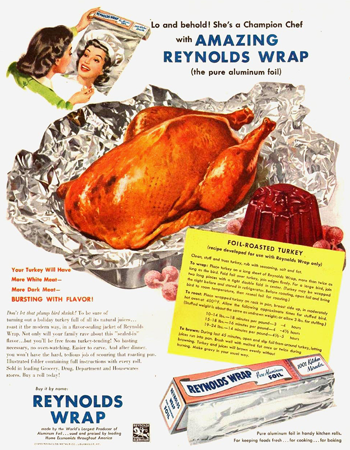 Early 1950s Reynolds Thanksgiving Ad