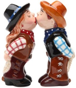Cowboy and Cowgirl Salt and Pepper Shaker
