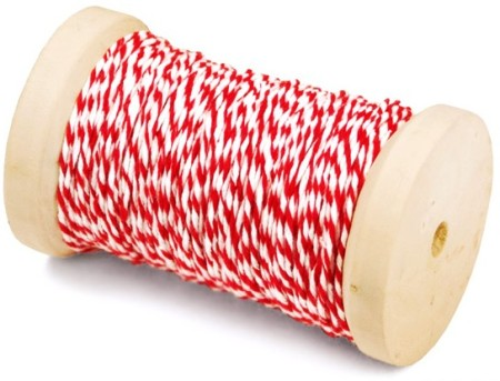 Spool of Red and White Baker's Twine