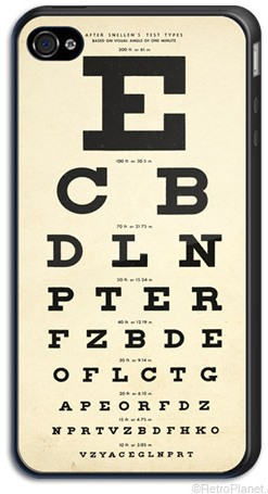 Eye Chart iPhone 4 Case