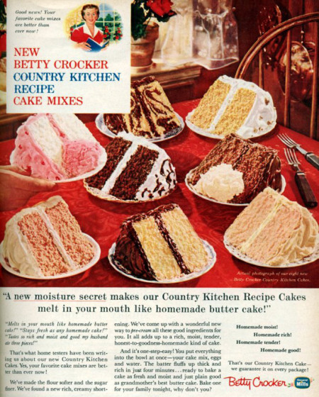 Betty Crocker cake mix ad
