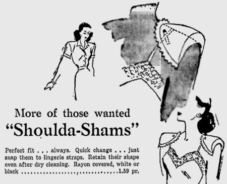 Shoulda-Shams department store ad, August 1947