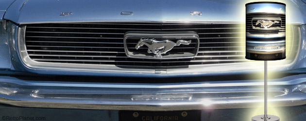 Blue 66 Mustang Grille Lamp