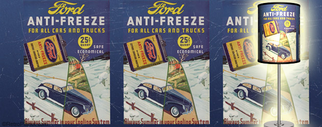 Retro Ford Anti-Freeze Desk Lamp