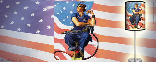 Rosie The Riveter Rockwell Lamp