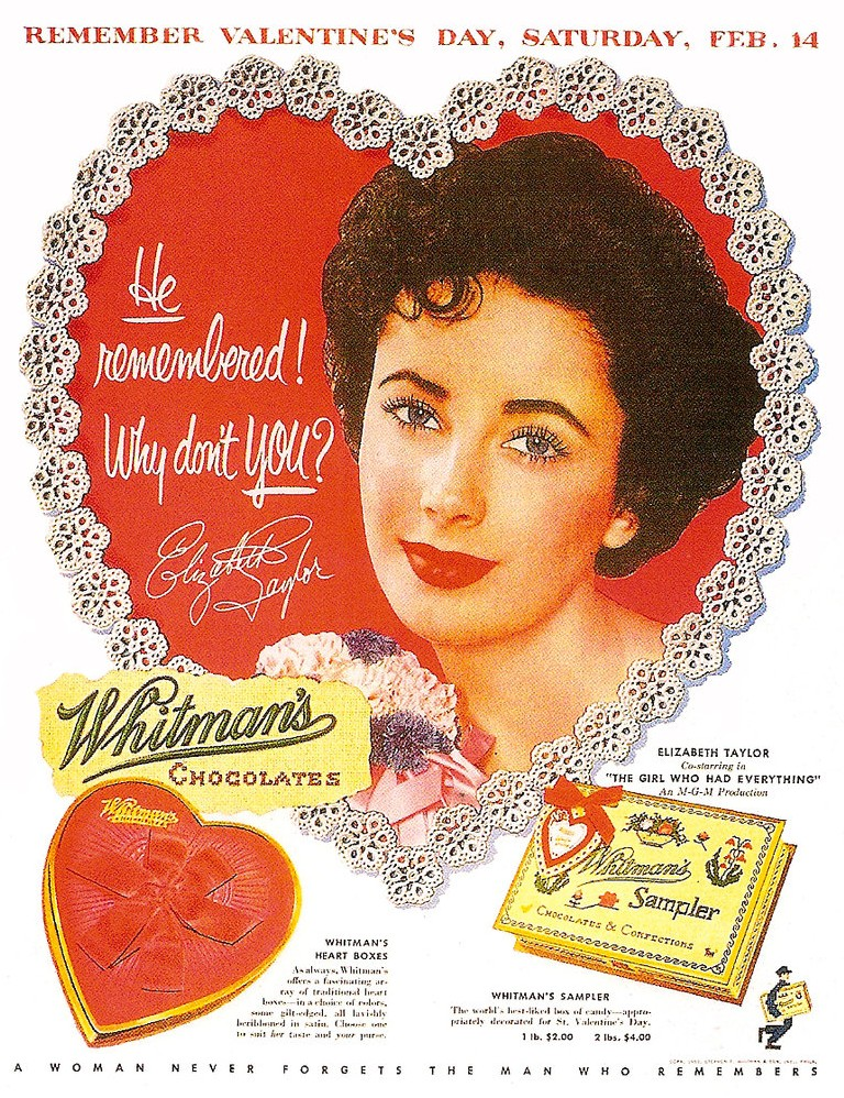 Whitman's Sampler Box Ad
