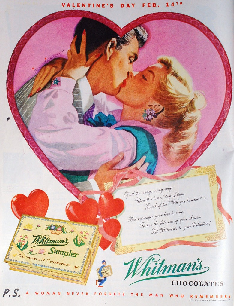 Retro Valentine S Day Whitman S Sampler Ads