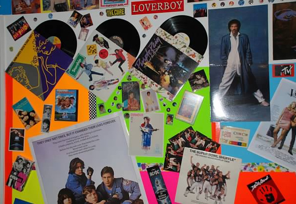 80s record wall design
