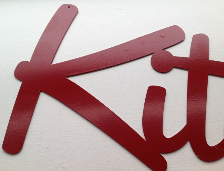 Kitchen Sign - Scratches and Scuffing