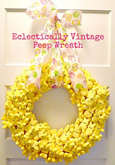 Peeps Easter Wreath