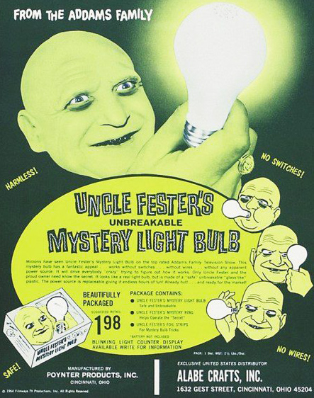 Uncle Fester's Light Bulb Ad