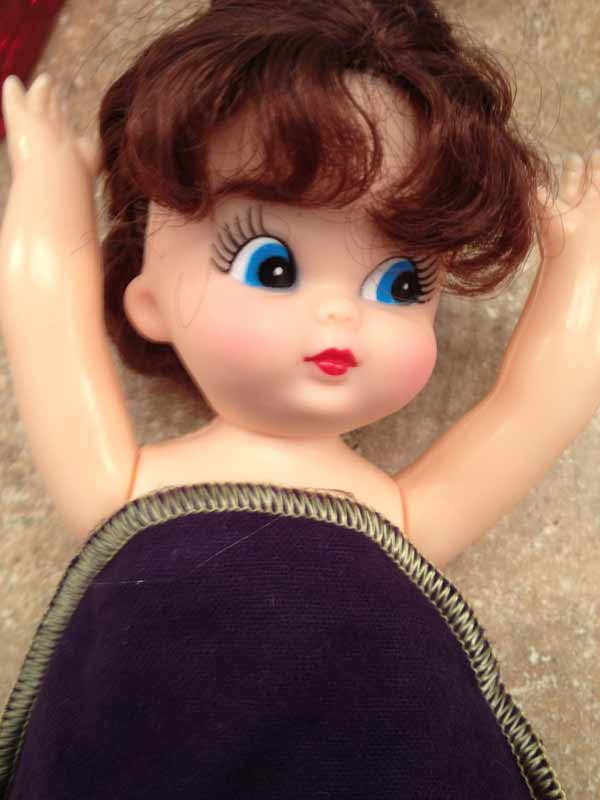 Gluing Dress on Doll