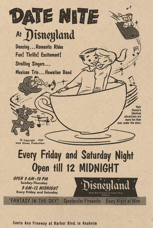 Date Nite Ad from 1957