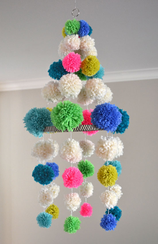 b1da017f13f Learn how to make this Pom Pom Chandelier at Small for Big.