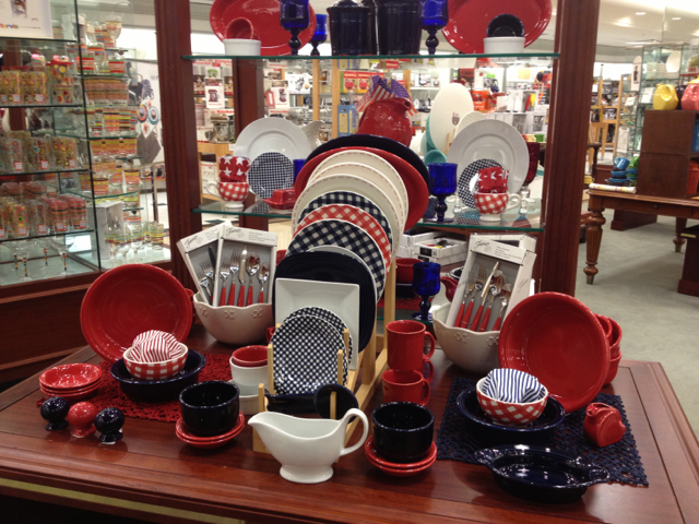 Americana Fiesta Display & On Display: Americana Dinnerware (Fiesta too!)