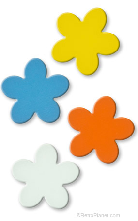 Shape Up Retro Flower Magnets