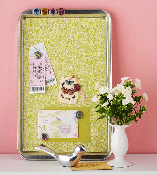 Diy Turning Cookie Sheets Into Memo Boards