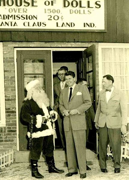 Santa and Ronald Reagan in 1955