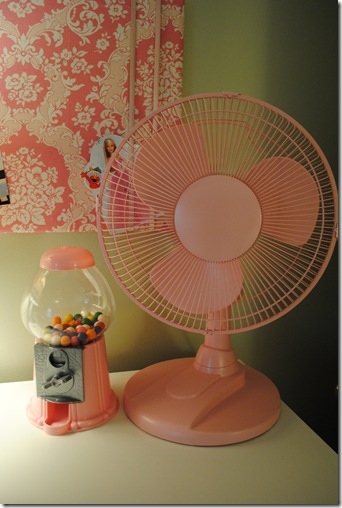 Spray Painted Fan and Gumball Machine