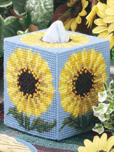 Diy Needlepoint Tissue Box Cover