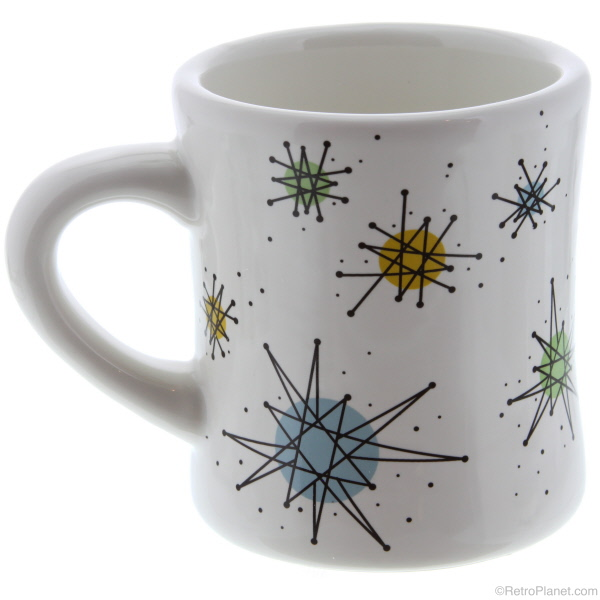 Sputnik Mug  sc 1 st  Vintage Vending - Retro Planet & Atomic Dinnerware - Sputnik Designed Plates Bowls and Glassware