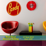 Vintage Style Candy Wall Decal