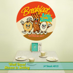 Diner Style Breakfast Wall Decal