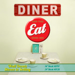 Retro Diner & Good Food Eat Wall Decals