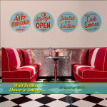 '50s Round Diner Ad Wall Decals
