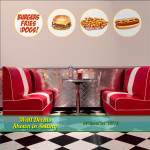 Burger, Fries & Dog Wall Decals